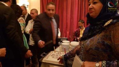 صورة عفاف شعيب التي لم تآكل اللحم والبيتزا منذ الاطاحة بحسني مبارك لم تعجبها تورتة وهران …