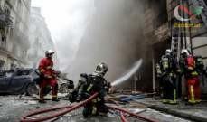صورة مقتل رجلي إطفاء بين المصابين في انفجار مخبز في باريس