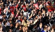 صورة إضراب عام في القطاع الحكومي في تونس وشلل في المدارس وحركة النقل
