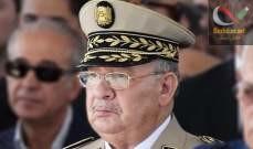صورة رئيس الأركان الجزائري: الجيش مستعد لتوفير الظروف التي تكفل للشعب حقه بالانتخاب