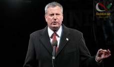 صورة رئيس بلدية نيويورك بيل دي بلازيو أعلن ترشحه للانتخابات الرئاسية عام 2020