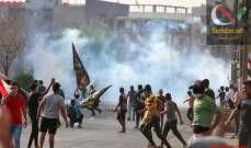 صورة رويترز: قتيلان عراقيان و38 مصابا في احتجاجات ببغداد اليوم