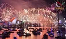 صورة بدء احتفالات رأس السنة الميلادية في أوستراليا