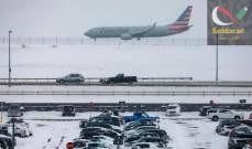صورة إلغاء أكثر من 3000 رحلة في شمال شرق الولايات المتحدة بسبب الثلوج