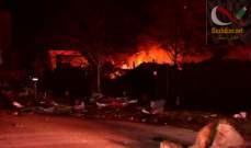 صورة AFP: انفجار كبير في هيوستن في الولايات المتحدة