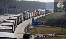 صورة تكدس الشاحنات والسيارات على الحدود بين الدول الأوروبية بسبب فيروس كورونا
