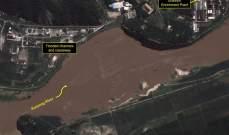 صورة مركز أبحاث أميركي: السيول تهدد موقع مفاعل نووي بكوريا الشمالية