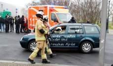 صورة سيارة تصطدم ببوابة مقر المستشارة الألمانية في برلين