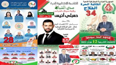 صورة القوائم الانتخابية لولاية سوق اهراس تحت مجهر فلاش نيوز … انتخابات 12 جوان 2021 …