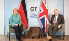 صورة رئاسة وزراء بريطانيا: جونسون وميركل بحثا بأنشطة روسيا والصين المزعزعة للاستقرار