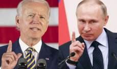 صورة الكرملين: بوتين وبايدن يقدران إيجابيا التنسيق الروسي الأميركي حول نقل المساعدات لسوريا