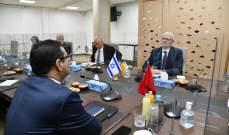 صورة وزير الخارجية المغربي إلتقى مدير عام الخارجية الإسرائيلية في الرباط