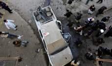 صورة مقتل شرطي بانفجار في سوق شمال غربي باكستان