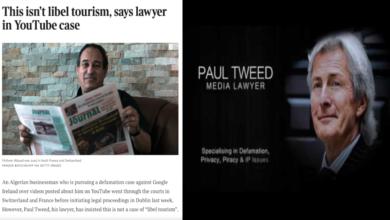 صورة المحامي الارلندي الشهير بول تويد يمرمد خنزير باريس في الوحل و يكسب ضده قضايا في سويسرا و فرنسا و ايرلندا …