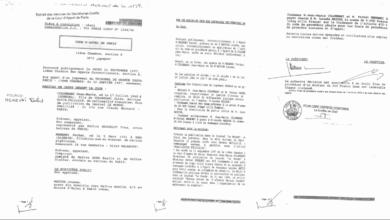 صورة الاحكام القضائية من محكمة باريس و التي رفعها المرحوم معطوب الوناس ضد فرحات مهني عام 1997 قبل إغتياله …