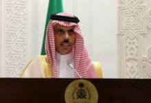 """صورة وزير الخارجية السعودي يناقش مع السفير القطري """"المسائل المشتركة"""""""
